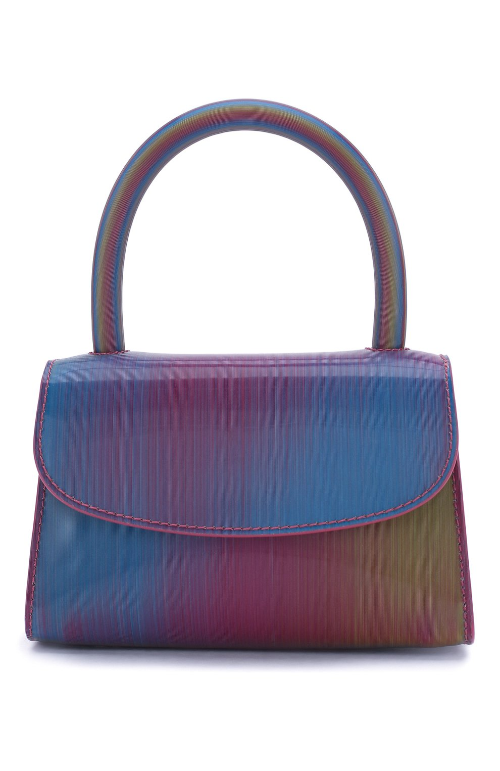 Женская сумка mini BY FAR разноцветного цвета, арт. 20SSMINARNLSMA   Фото 1 (Сумки-технические: Сумки через плечо, Сумки top-handle; Материал: Натуральная кожа; Размер: mini; Ремень/цепочка: На ремешке)
