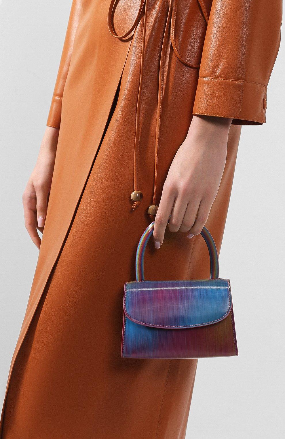 Женская сумка mini BY FAR разноцветного цвета, арт. 20SSMINARNLSMA   Фото 2 (Сумки-технические: Сумки через плечо, Сумки top-handle; Материал: Натуральная кожа; Размер: mini; Ремень/цепочка: На ремешке)