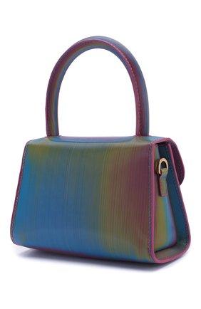 Женская сумка mini BY FAR разноцветного цвета, арт. 20SSMINARNLSMA   Фото 3 (Сумки-технические: Сумки через плечо, Сумки top-handle; Материал: Натуральная кожа; Размер: mini; Ремень/цепочка: На ремешке)