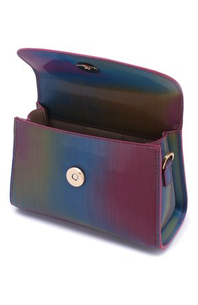 Женская сумка mini BY FAR разноцветного цвета, арт. 20SSMINARNLSMA   Фото 4 (Сумки-технические: Сумки через плечо, Сумки top-handle; Материал: Натуральная кожа; Размер: mini; Ремень/цепочка: На ремешке)