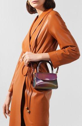Женская сумка mini BY FAR разноцветного цвета, арт. 20SSMINARNLSMA   Фото 5 (Сумки-технические: Сумки через плечо, Сумки top-handle; Материал: Натуральная кожа; Размер: mini; Ремень/цепочка: На ремешке)