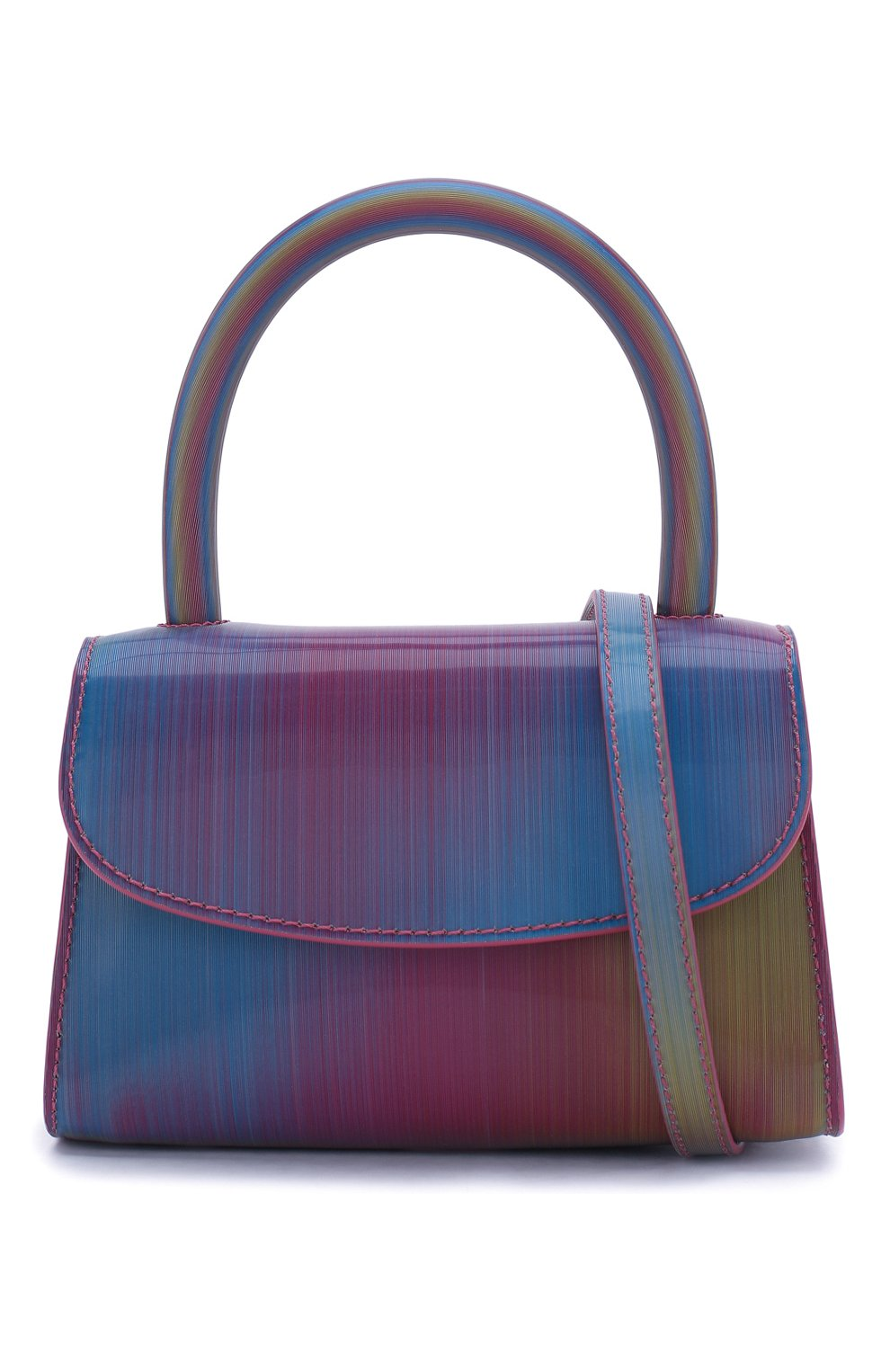 Женская сумка mini BY FAR разноцветного цвета, арт. 20SSMINARNLSMA   Фото 6 (Сумки-технические: Сумки через плечо, Сумки top-handle; Материал: Натуральная кожа; Размер: mini; Ремень/цепочка: На ремешке)