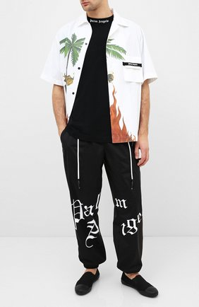 Мужские текстильные слипоны YOHJI YAMAMOTO черного цвета, арт. HN-E01-060 | Фото 2