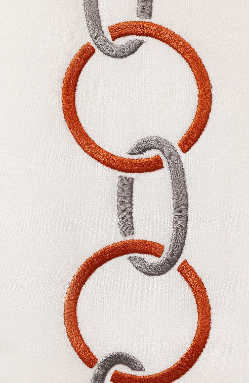 Мужского хлопковая наволочка FRETTE коричневого цвета, арт. FR6568 E0700 051C | Фото 2