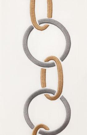 Мужского хлопковая наволочка FRETTE светло-серого цвета, арт. FR6568 E0700 051C | Фото 2