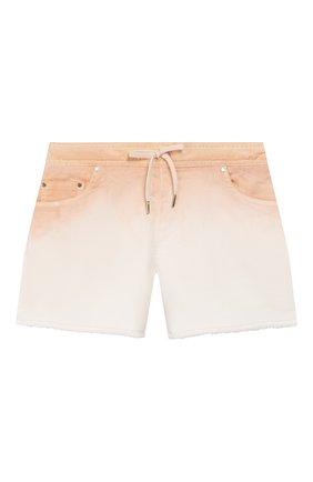 Детские джинсовые шорты CHLOÉ светло-розового цвета, арт. C14614 | Фото 1