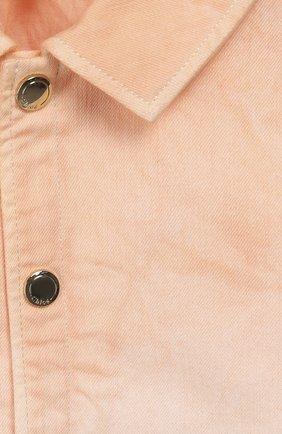 Детская джинсовая куртка CHLOÉ оранжевого цвета, арт. C16358   Фото 3