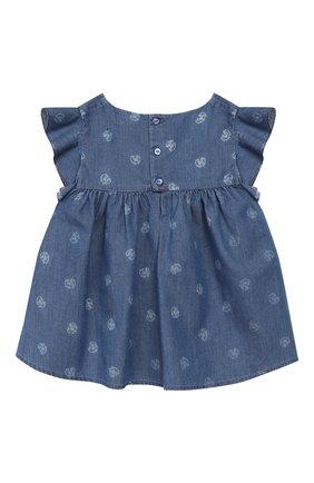 Детский хлопковый топ CHLOÉ голубого цвета, арт. C05339 | Фото 2