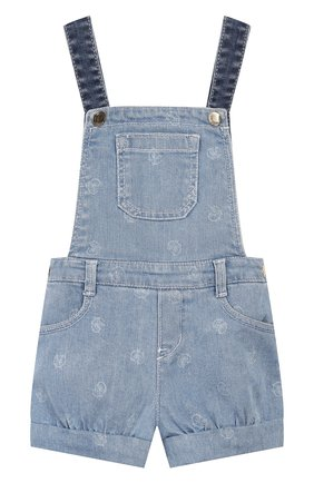 Детский джинсовый комбинезон CHLOÉ голубого цвета, арт. C04155 | Фото 1