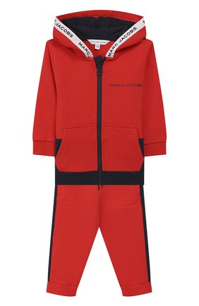 Детский комплект из кардигана и брюк MARC JACOBS (THE) красного цвета, арт. W08070 | Фото 1