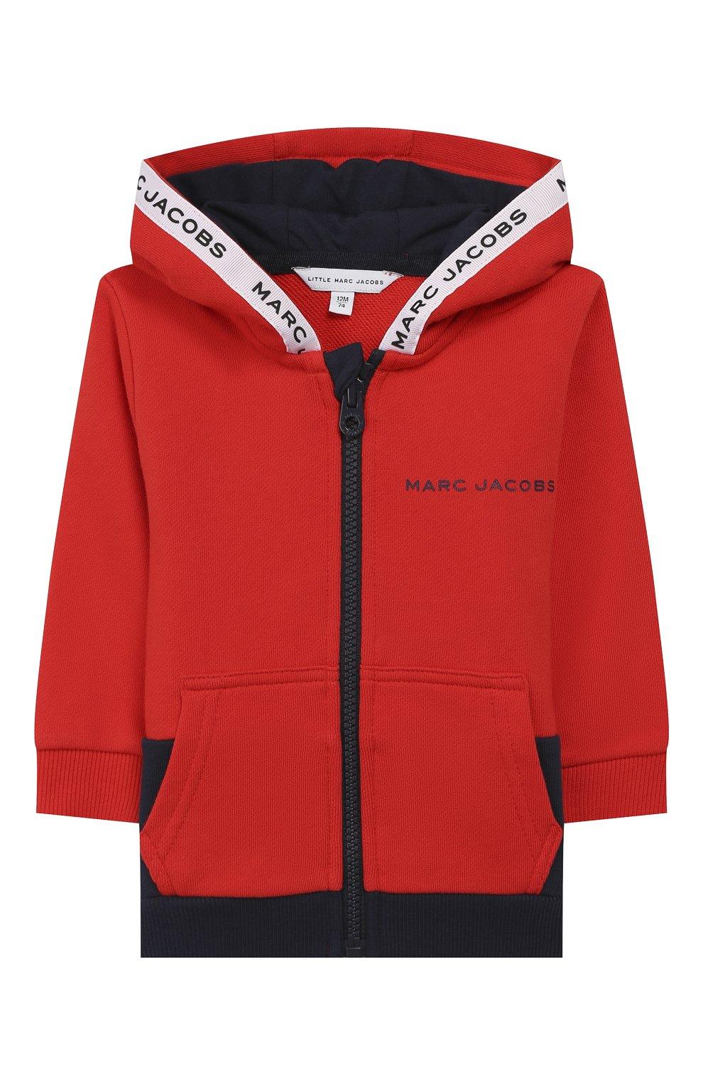 Детский комплект из кардигана и брюк MARC JACOBS (THE) красного цвета, арт. W08070   Фото 2