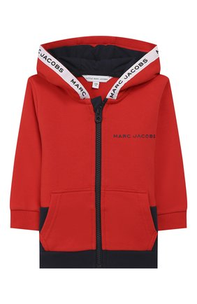 Детский комплект из кардигана и брюк MARC JACOBS (THE) красного цвета, арт. W08070 | Фото 2