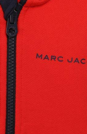 Детский комплект из кардигана и брюк MARC JACOBS (THE) красного цвета, арт. W08070   Фото 6
