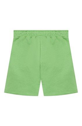 Детские хлопковые шорты MINI RODINI зеленого цвета, арт. 20230145 | Фото 2