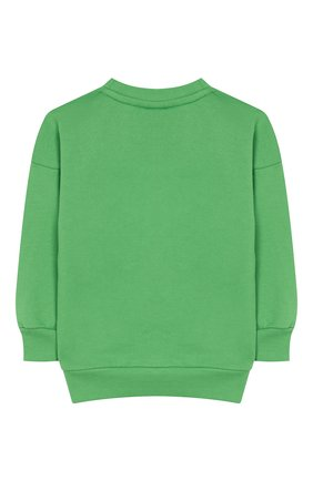 Детский хлопковый свитшот MINI RODINI зеленого цвета, арт. 20220153 | Фото 2