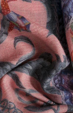 Женский платок lemur in pink KIRILL OVCHINNIKOV розового цвета, арт. 135\Lpk | Фото 2