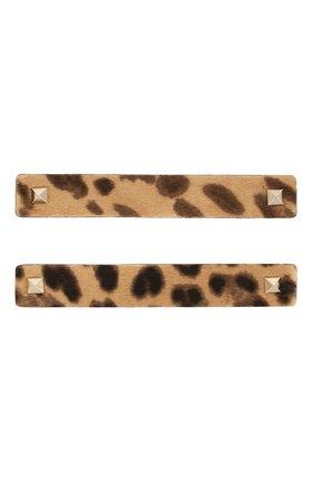 Женские патчи для обуви VALENTINO леопардового цвета, арт. TW260A39/ZQM | Фото 1
