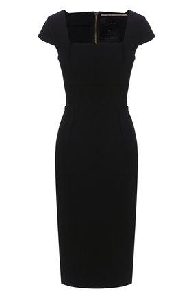 Женское платье ROLAND MOURET черного цвета, арт. EW20/S1761/F2196 | Фото 1