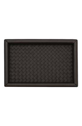 Мужского кожаный поднос BOTTEGA VENETA темно-коричневого цвета, арт. 163506/V001N | Фото 2