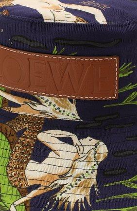 Женская панама loewe x paula's ibiza LOEWE синего цвета, арт. K820HF1X04 | Фото 3 (Материал: Текстиль, Хлопок)