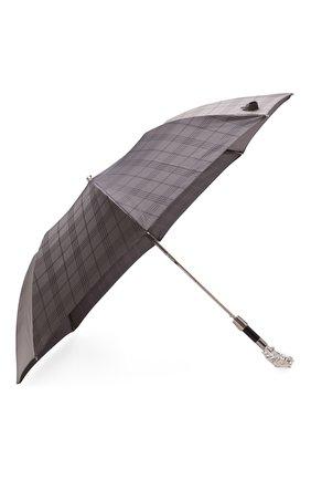 Мужской складной зонт PASOTTI OMBRELLI серого цвета, арт. 64S/RAS0 6434/9/W44/T | Фото 2