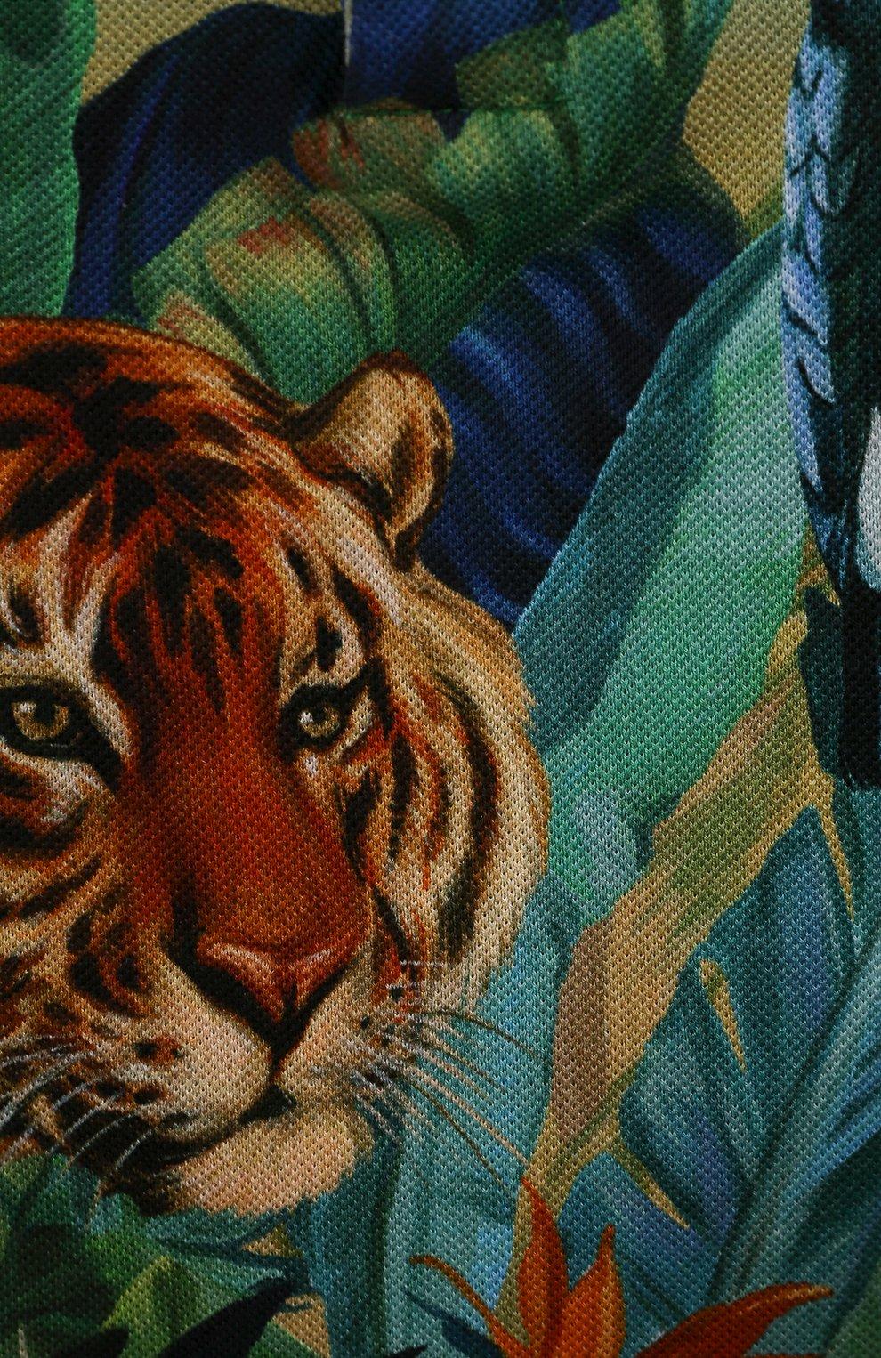 Детский хлопковый комбинезон DOLCE & GABBANA разноцветного цвета, арт. L1J09M/G7WFZ | Фото 3