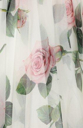 Детское шелковое платье DOLCE & GABBANA белого цвета, арт. L52DC3/IS1BD/2-6 | Фото 3 (Материал внешний: Шелк; Рукава: Короткие; Случай: Повседневный; Материал подклада: Вискоза; Ростовка одежда: 2 года | 92 см, 6 лет | 116 см)