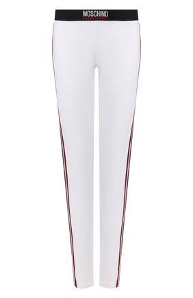 Женские хлопковые брюки MOSCHINO UNDERWEAR WOMAN белого цвета, арт. A4309/9012   Фото 1