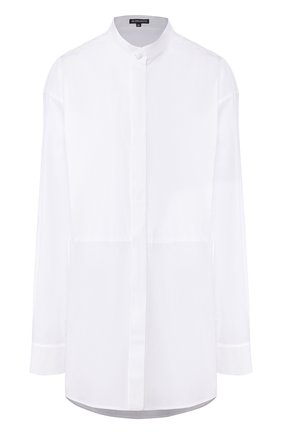 Женская хлопковая рубашка ANN DEMEULEMEESTER белого цвета, арт. 2001-2010-125-001   Фото 1