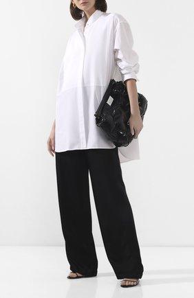 Женская хлопковая рубашка ANN DEMEULEMEESTER белого цвета, арт. 2001-2010-125-001   Фото 2