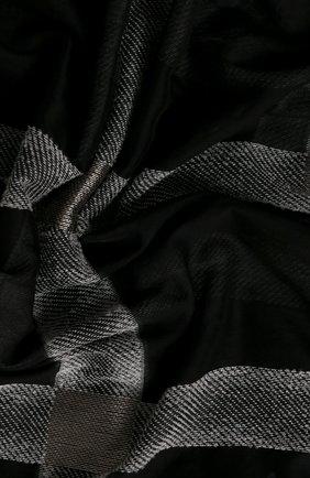 Мужские шерстяной шарф GIORGIO ARMANI черно-белого цвета, арт. 795209/0A126   Фото 2