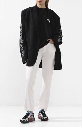 Женская хлопковая футболка VETEMENTS черного цвета, арт. UAH21TR511 1600/W | Фото 2