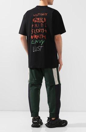 Мужская хлопковая футболка VETEMENTS черного цвета, арт. UAH21TR518 1600/M   Фото 2