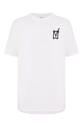 Мужская хлопковая футболка VETEMENTS белого цвета, арт. UAH21TR512 1600/M | Фото 1