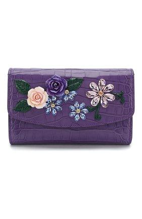 Женская сумка из кожи аллигатора DOLCE & GABBANA фиолетового цвета, арт. BI1275/B2DX9/AMIS | Фото 1