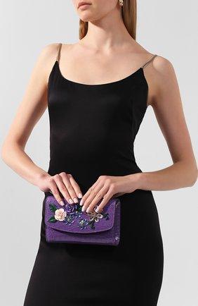 Женская сумка из кожи аллигатора DOLCE & GABBANA фиолетового цвета, арт. BI1275/B2DX9/AMIS | Фото 2