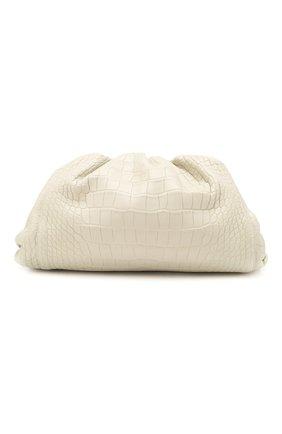 Женский клатч pouch из кожи аллигатора BOTTEGA VENETA белого цвета, арт. 576227/VCPX0/AMIS | Фото 1