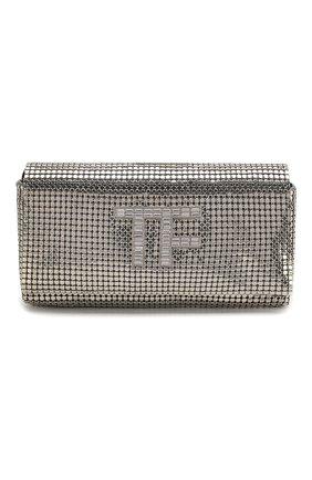 Женский сумка tf mini TOM FORD серебряного цвета, арт. L1282P-ISY001 | Фото 1