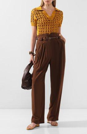 Женское поло из вискозы FENDI бронзового цвета, арт. FZX512 ABWL | Фото 2