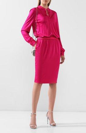 Женское платье из вискозы TOM FORD фуксия цвета, арт. ABJ450-FAX159 | Фото 2