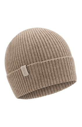 Мужская кашемировая шапка GIORGIO ARMANI бежевого цвета, арт. 747348/8A510 | Фото 1