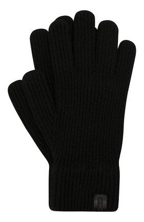 Мужские кашемировые перчатки GIORGIO ARMANI черного цвета, арт. 744141/0A211 | Фото 1