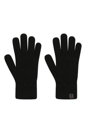 Мужские кашемировые перчатки GIORGIO ARMANI черного цвета, арт. 744141/0A211 | Фото 2