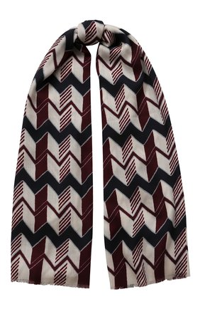 Мужской шарф из шерсти и шелка GIORGIO ARMANI разноцветного цвета, арт. 745209/0A117 | Фото 1