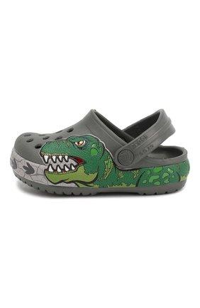 Детские сабо crocs fl dino ba CROCS зеленого цвета, арт. 206157-0DA | Фото 2