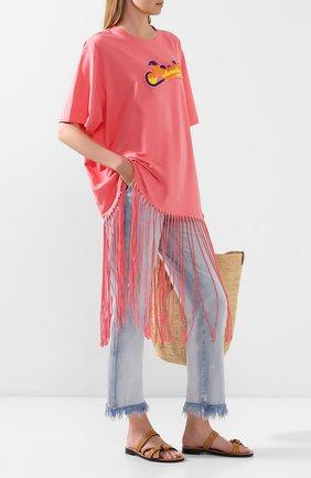 Женская футболка loewe x paula's ibiza LOEWE розового цвета, арт. S616341X60 | Фото 2
