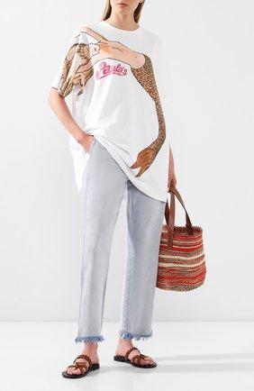 Женская футболка loewe x paula's ibiza LOEWE белого цвета, арт. S616341X16 | Фото 2