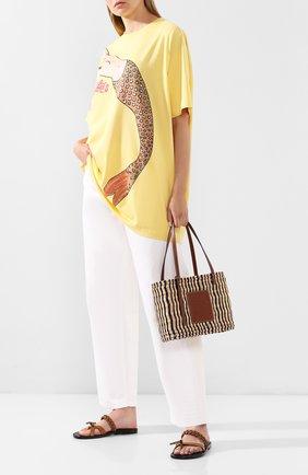 Женская футболка loewe x paula's ibiza LOEWE желтого цвета, арт. S616341X16 | Фото 2