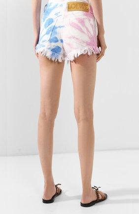 Женские джинсовые шорты loewe x paula's ibiza LOEWE разноцветного цвета, арт. S616331X25   Фото 4 (Женское Кросс-КТ: Шорты-одежда; Длина Ж (юбки, платья, шорты): Мини; Материал внешний: Хлопок, Деним; Стили: Кэжуэл)
