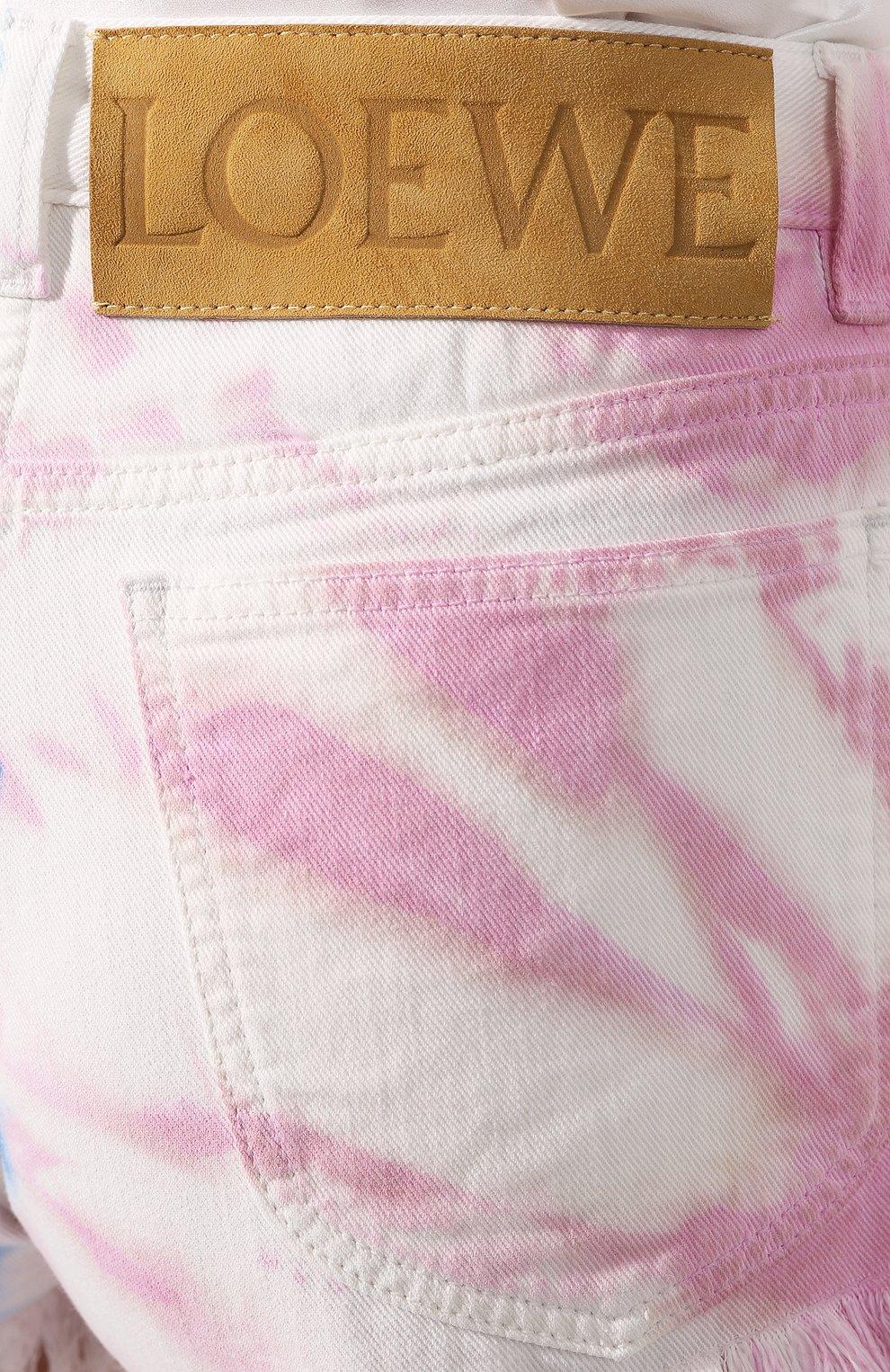 Женские джинсовые шорты loewe x paula's ibiza LOEWE разноцветного цвета, арт. S616331X25   Фото 5 (Женское Кросс-КТ: Шорты-одежда; Длина Ж (юбки, платья, шорты): Мини; Материал внешний: Хлопок, Деним; Стили: Кэжуэл)